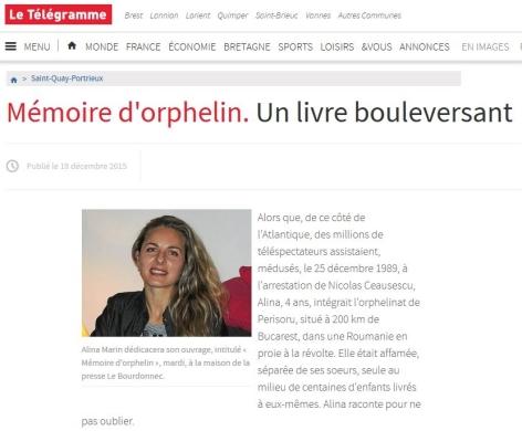 Le Télégramme – 18/12/2015