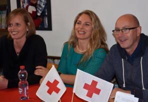 les auteures en compagnie de Jean-Marc Richard, animateur sur Radio Suisse Romande